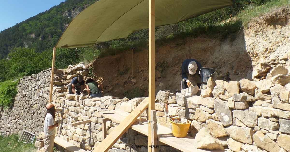 Chantier pierre sèche